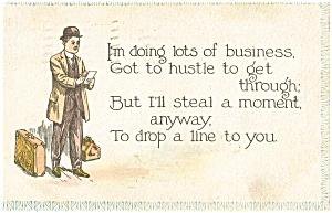 Business Man Vintage Postcard p4040 (Image1)