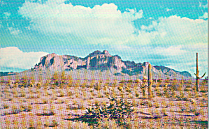 East of Mesa Arizona  Superstition Mountain Postcard P40439 (Image1)