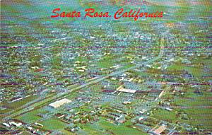 Santa Rosa California on Redwood Highway City of Roses P40508 (Image1)