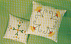 Fringe Fancy Stitchcrat Decorator Pillow Postcard P40527