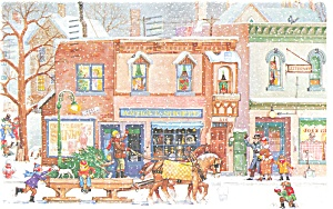 Christmas Postcard Horse and Sleigh (Image1)