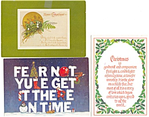 Christmas Postcard Lot 5 p4064 1970-80s (Image1)