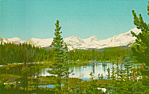 Red Rocks Lake in the Colorado Rockies Postcard P40673 (Image1)
