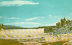 Big Bear Lake California in Winter Postcard P40737 (Image1)