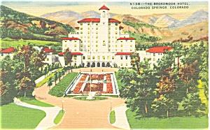 Broadmoor Hotel Colorado Springs  Linen Postcard p4079 (Image1)