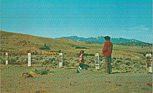 Virginia City Montana Boot Hill Postcard P40810 (Image1)