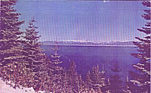 Lake Yahoe California Snow on Mountains Postcard P40913 (Image1)