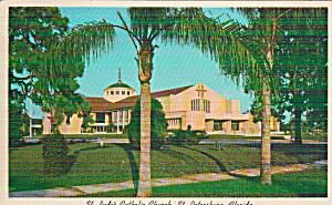 St Petersburg Florida St Jude s Catholic Church Postcard P41030 (Image1)