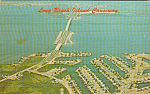 Long Beach California Cayseway to Long Beach Island Postcard P41192 (Image1)