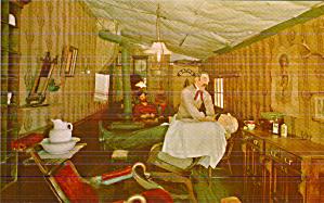 Virginia City Montana Barber Shop Postcard P41301 (Image1)