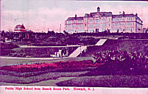 Newark New Jersey Public High School From Branch Book Park P41340