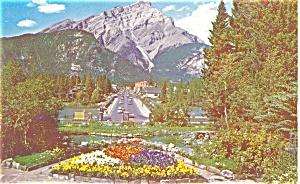 Cascade Mountain Banff Park Canada Postcard p4136 (Image1)