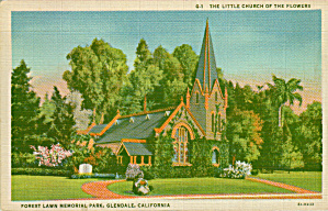 Glendale California Forest Lawn Little Church of the Flowers P41415 (Image1)