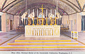 Washington DC National Shrine of the Immaculate Conception Mary Altar P41429F (Image1)