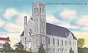 MIddlebury Vermont Roman Catholic Church P41434F (Image1)