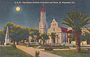 St Augustine Florida Roman Catholic Cathedral and Plaza P41436F (Image1)