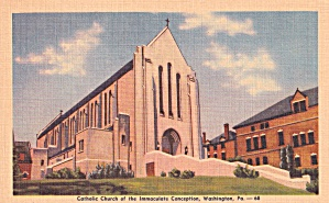 Washington PA Catholic Church of the Immaculate Conception P41437F (Image1)