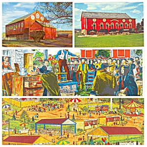 Pennsylvania Dutch Country Barns Auctions Lot of Four PA019 (Image1)