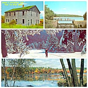 Poconos PA Motel Park Winter Lake Lot of Four  PA020 (Image1)
