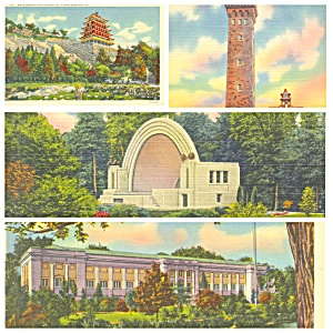 Reading PA Pagoda Fire Tower Park Museum Lot of Four PA021 (Image1)