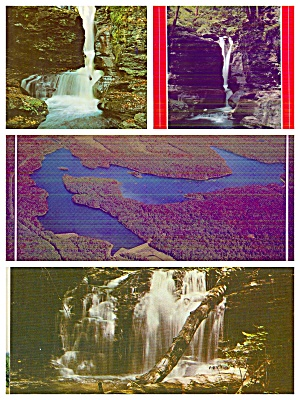 Ricketts Glen State Park PA Water Falls LakeLot of Four PA030 (Image1)