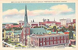 Louisville KY Baptist Church Dental SchoolPresbyteria Seminary P41495F (Image1)