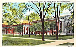 Columbus GA First Baptist Churc and Sunday School Room P41504F (Image1)