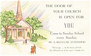 Sunday School Attendence  Postcard p4164 (Image1)