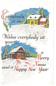 Christmas House to House  Postcard (Image1)