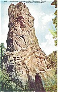 Longfellow Monument Colorado Postcard p4173 (Image1)