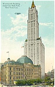 Woolworth Building New York City Postcard p4175 (Image1)