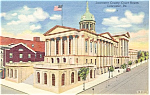 Lancaster County Court House Postcard p4177 (Image1)