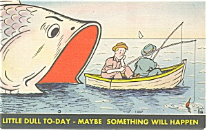 Comical Fishing Postcard