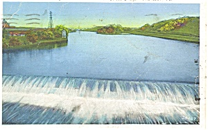 Lehigh River, Allentown PA Postcard (Image1)