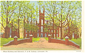Franklin and Marshall College  Postcard (Image1)