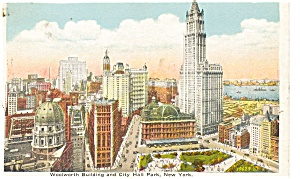 Woolworth Building New York City Postcard p4217 (Image1)