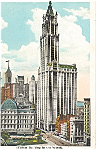 Woolworth Building Tallest Bldg New York City Postcard p4223 (Image1)