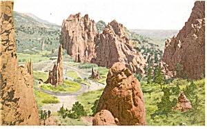 Garden of the Gods Colorado Postcard p4239 (Image1)