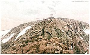 Summit of Pikes Peak Colorado Postcard p4240 (Image1)