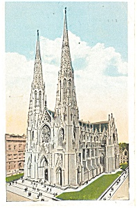 St Patrick s Cathedral New York City Postcard p4244 (Image1)