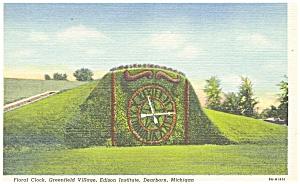 Floral Clock,Greenfield Village MI Postcard p4251 (Image1)