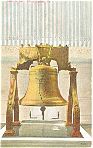 Liberty Bell Philadelphia PA Postcard p4276 1910 (Image1)