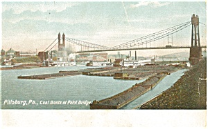 Pittsburgh PA Point Bridge Postcard p4278 (Image1)