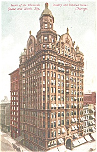 Columbus Building Chicago Postcard (Image1)