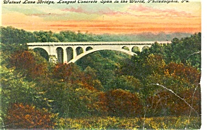 Walnut St Bridge Philadelphia Postcard p4286 (Image1)