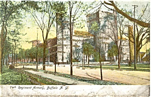 Buffalo NY The Armory Glitter Postcard (Image1)