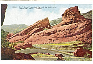 Park Of The Red Rocks Co Postcard P4366