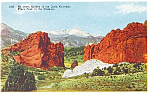 Gateway Garden Of The Gods Co Postcard P4368