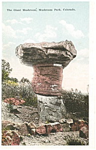 Giant Mushroom Rock, CO Postcard (Image1)