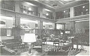 Sir Walter Hotel Raleigh NC Postcard p4392 (Image1)